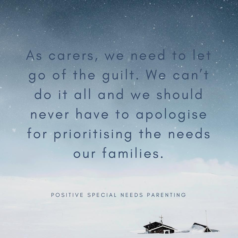 Let go of the guilt as a care
