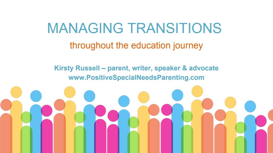 Managing Transitions Screenshot - positivespecialneedsparenting.com