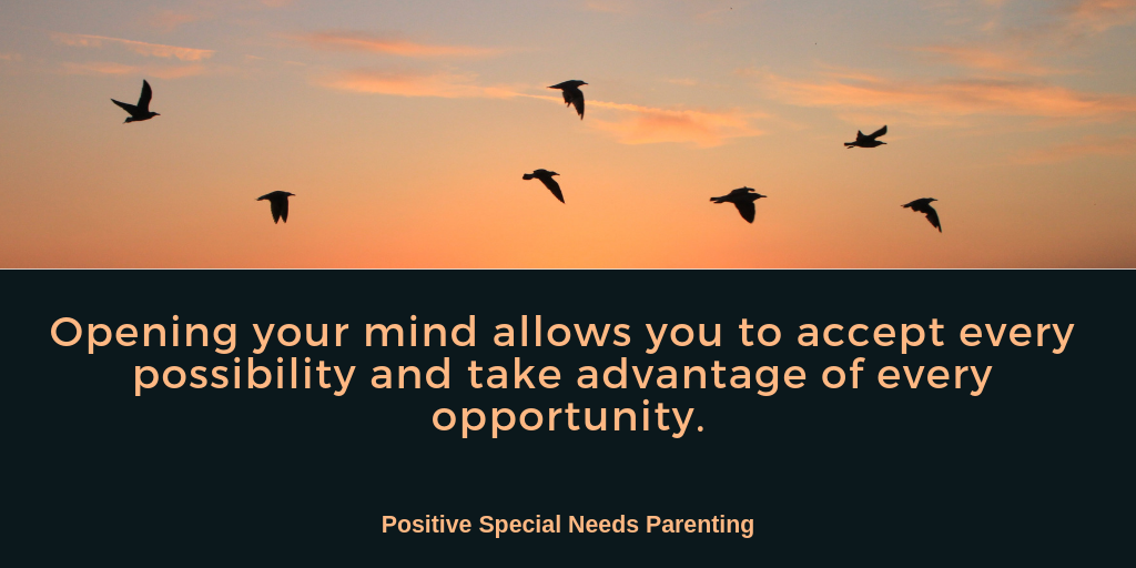We need to keep ourselves open to every possibility - positivespecialneedsparenting.com