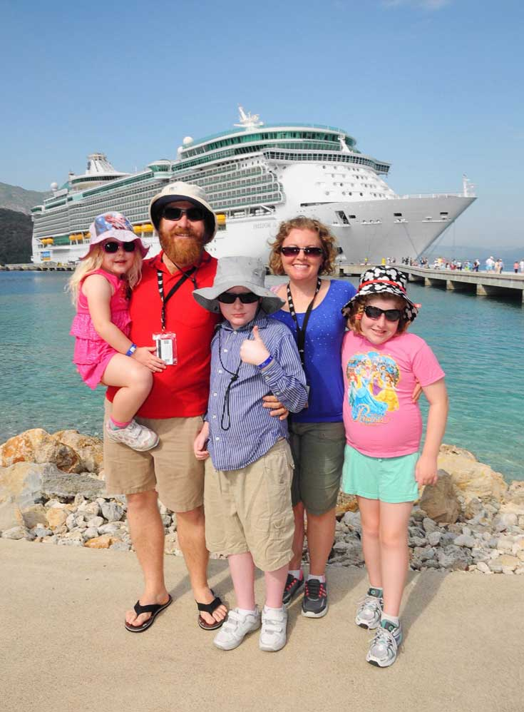 Our family on a cruise overseas - how to rise above judgement